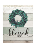 Blessed Wreath II Premium Giclee Print by Jo Moulton