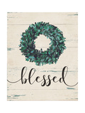 Blessed Wreath Premium Giclee Print by Jo Moulton