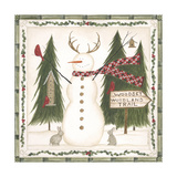 Woodsy Woodland Snowman Posters by Cindy Shamp