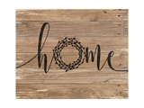 Home Rustic Wreath Premium Giclee Print by Jo Moulton