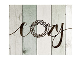 Cozy Rustic Wreath II Prints by Jo Moulton