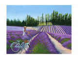 Picking Lavender Print by Julie Peterson