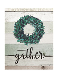Gather Wreath II Premium Giclee Print by Jo Moulton