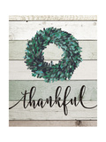 Thankful Wreath II Premium Giclee Print by Jo Moulton