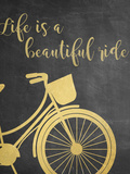 Life is a Beautiful Ride - Grey Prints by Anna Quach