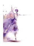 Purple Ballerina II Posters av Sophia Rodionov