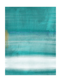 Blue Abstract II Prints by Linda Woods