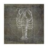 Lobster Geometric Silver Posters by Ramona Murdock