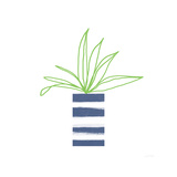 Striped Pot II Prints by Linda Woods