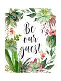 Be Our Guest Wreath Arte por Tara Moss