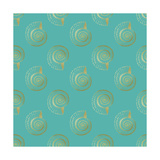 Golden Shell Pattern Posters by Ramona Murdock