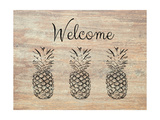 Welcome on Wood Posters by Linda Woods