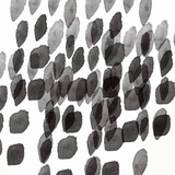 Black and White Drops Pattern Prints by Linda Woods