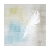 White Feather Abstract II Poster by Ramona Murdock