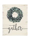 Gather Wreath Premium Giclee Print by Jo Moulton