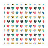 Colorful Hearts Posters by Linda Woods