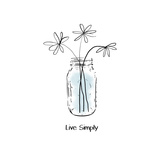 Live Simply Print by Linda Woods
