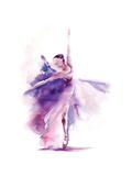 Purple Ballerina Posters av Sophia Rodionov