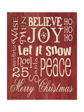 Merry Christmas Typography Art by Jo Moulton