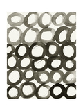 BW Circles Pattern Posters by Linda Woods