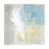 White Feather Abstract I Prints by Ramona Murdock