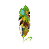 Joy Leaf Poster by Pamela J. Wingard