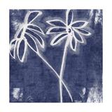 Indigo Floral II Prints by Linda Woods