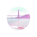 Pastel Bridge Poster by Linda Woods