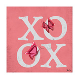 XOXO Butterflies Print by Shanni Welsh