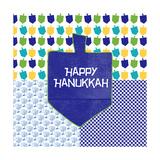 Happy Hanukkah II Prints by Linda Woods