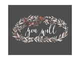 You Will Wreath Art by Tara Moss