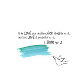 Love One Another IV Print by Pamela J. Wingard