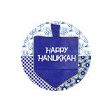 Happy Hanukkah Round I Print by Linda Woods