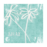 Relax Mint Posters by Linda Woods