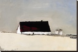 Big Barn and Silos Stretched Canvas Print by Sandra Pratt