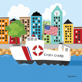 Coast Guard Print by Kathy Middlebrook