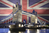 Union Jack Tower Bridge Poster