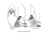 """""""Someone's at the hole."""" - New Yorker Cartoon Premium Giclee Print by Danny Shanahan"""