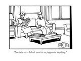 """""""I'm sixty-six—I don't want to see puppets in anything."""" - New Yorker Cartoon Premium Giclee Print by Bruce Eric Kaplan"""