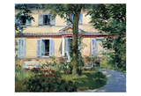 The House at Rueil, 1882 Prints by Edouard Manet