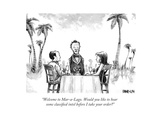 """""""Welcome to Mar-a-Lago. Would you like to hear some classified intel befo..."""" - New Yorker Cartoon Premium Giclee Print by Corey Pandolph"""