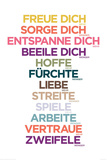 Freue dich mehr Posters