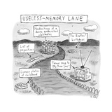 Useless Memory Lane Memory lane full of insignificant information. - New Yorker Cartoon Premium Giclee Print by Roz Chast