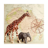 Safari Pals Print by Susannah Tucker