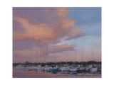 Marina Sunset Premium Giclee Print by Jill Schultz McGannon