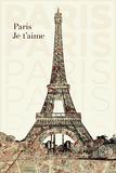 Paris - je t'aime Affiches