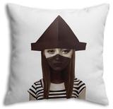 Ceci N'Est Pas Un Chapeau Pillow Throw Pillow by Ruben Ireland