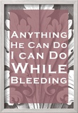 While Bleeding Posters