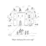 """Major shakeup of the senior staff."" - New Yorker Cartoon Premium Giclee Print by David Sipress"