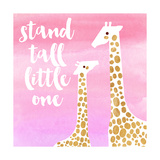 Stand Tall Pink Prints by Evangeline Taylor